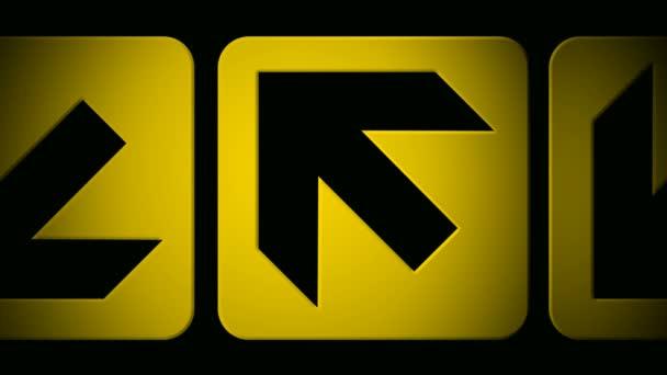 Gelber Pfeil-Symbole verschieben