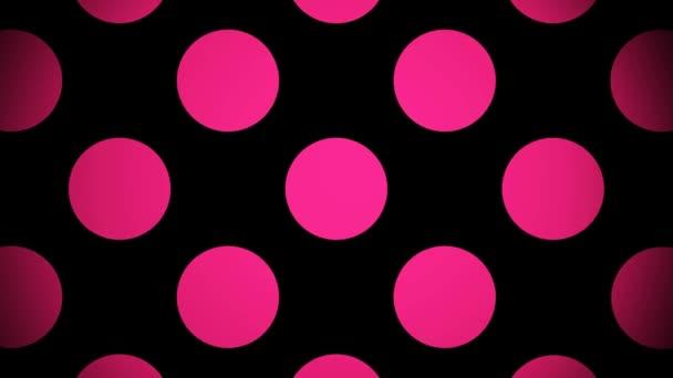 Cerchi rosa in movimento