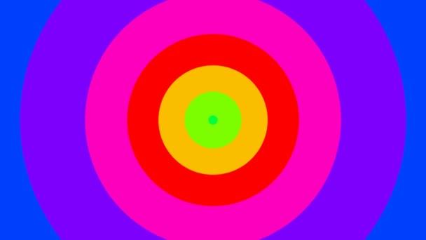 Pulzující kruhy v barvách duhy