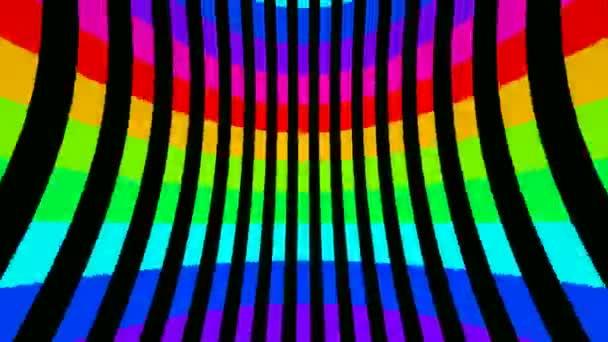 Pohybující se barevné tunel