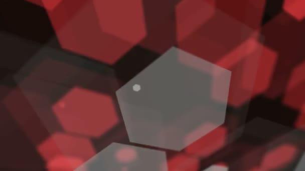 Rote und graue Sechsecke verschieben
