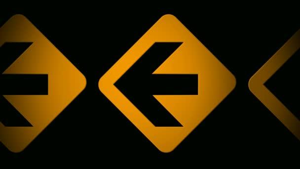 Moving orange arrow icons