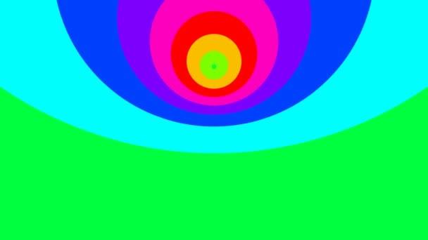 Pohyblivé kruhy v barvách duhy