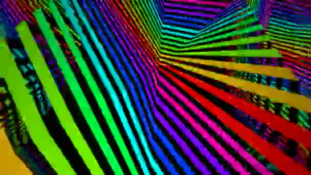 Moving colorful striped surface