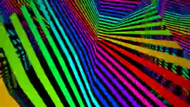 Pohybující se barevné pruhované povrch