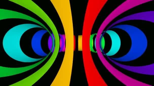 Rotující barevné kroužky