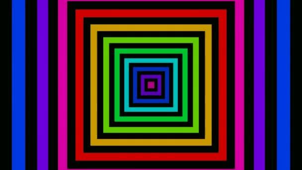 Pohybující se barevné čtverce