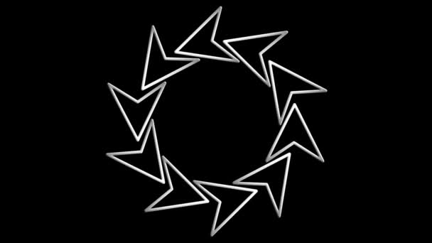 Rotating white arrow icons