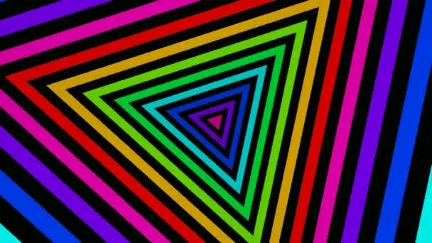 Rotující barevné trojúhelníky
