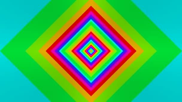 Pohyblivé šikmé barevné čtverce