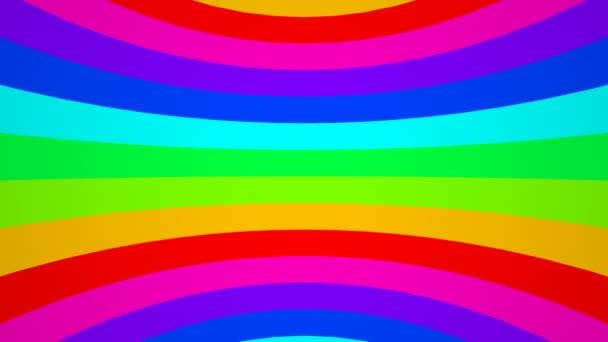 Mozgó csíkok a szivárvány színei