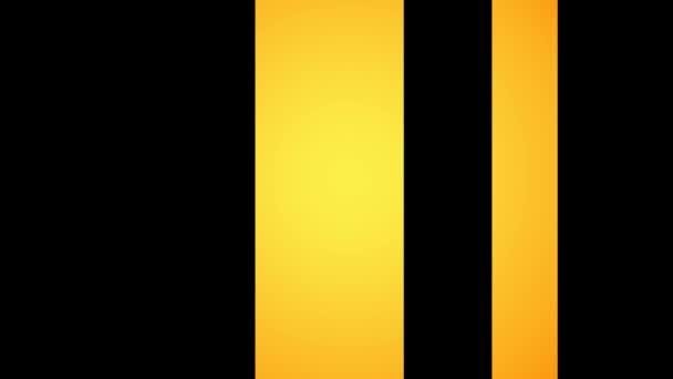 Pohybující se žlutými vertikální pruhy