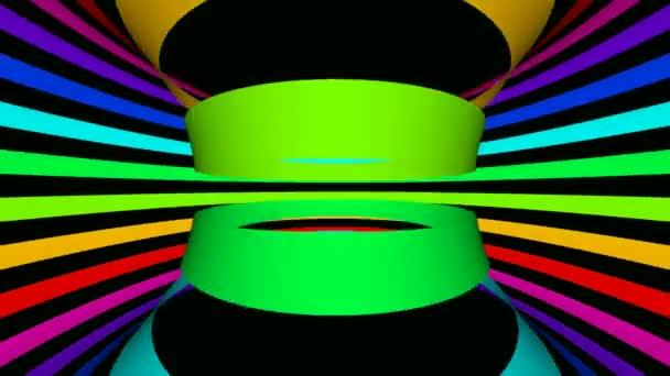Přesouvání pruhy v barvách duhy
