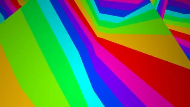 Mozgó színes csíkos felület