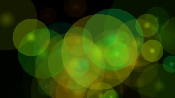 Barevné pohyblivé kruhy