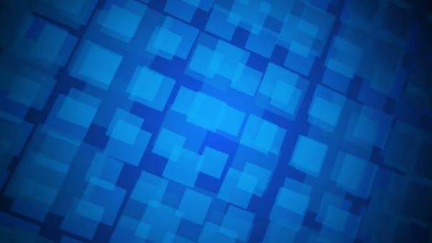 Moving blue squares