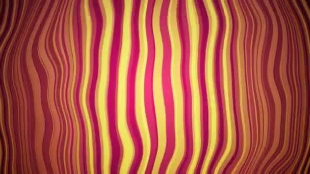 Piros és sárga hullámos vonalak