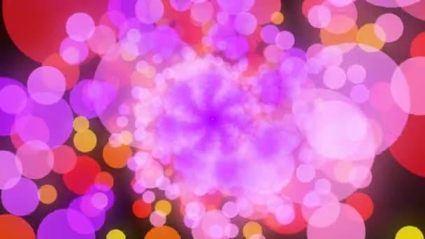 Cerchi colorati in movimento