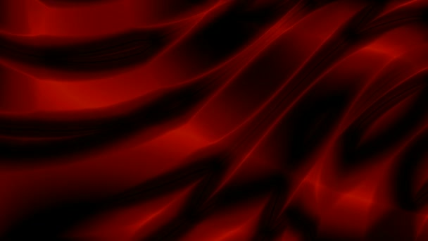 Wavy red curtain