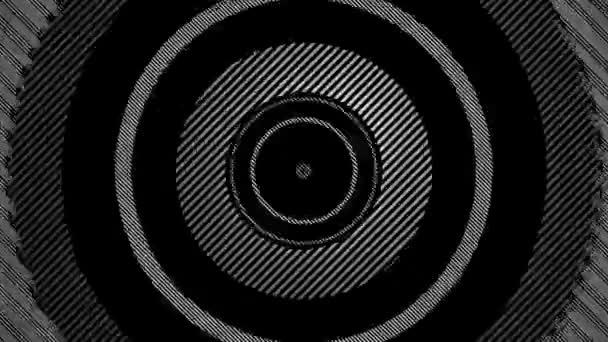 Moving striped circles