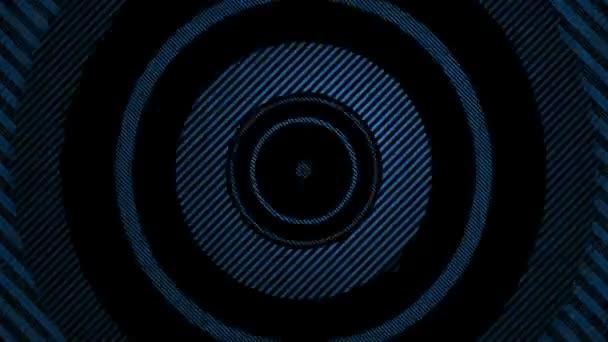 Pohyblivé pruhované modré kruhy