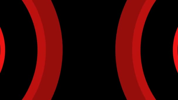 Blikající červená křivka pruhy