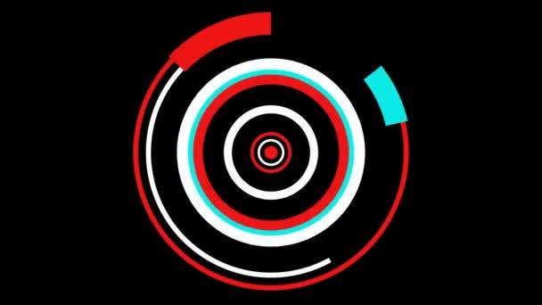 Pohyblivé hypnotický barevné kruhy