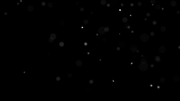 Černé pozadí s létající tečky