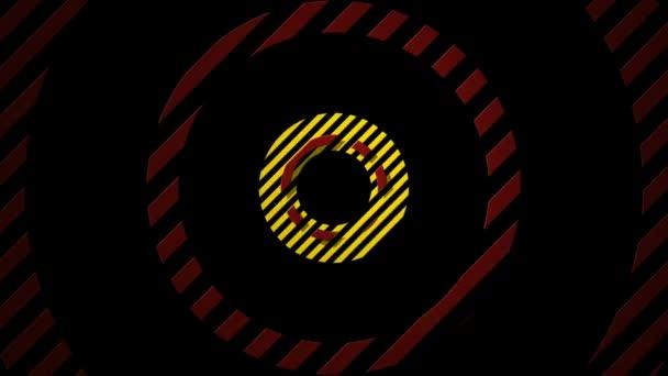 Pohyblivé pruhované barevné kruhy