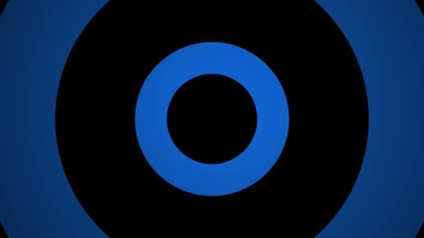 Blikající modré kruhy