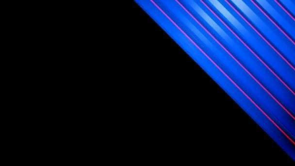 Pohyblivé modré šikmé pruhy
