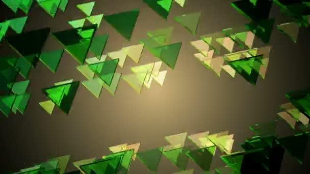 Svítící zelené trojúhelníky
