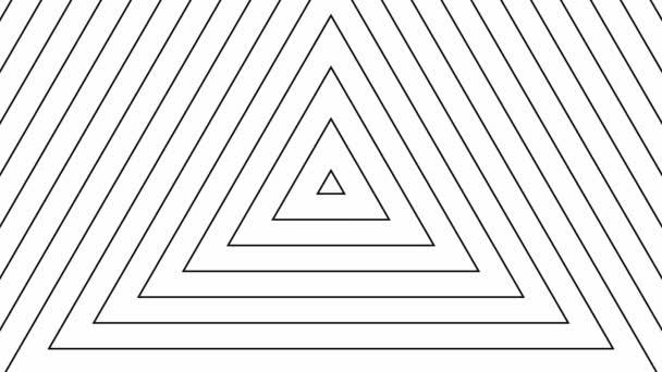 Mozgó tetraéderes fekete vonalak