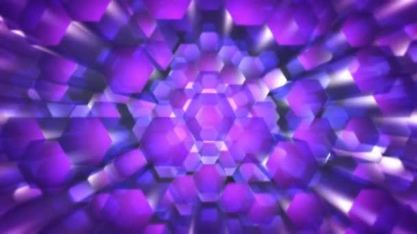 Létající fialové šestiúhelníky