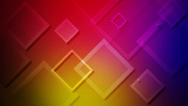 flying colorful squares