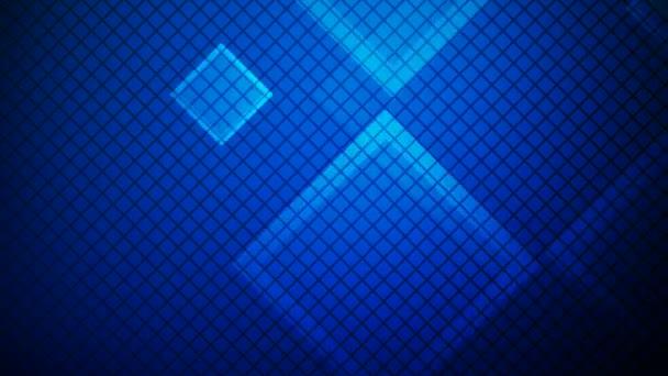 zářící modré čtverce