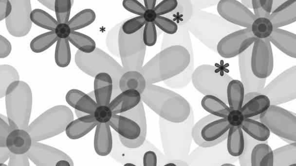 Szürke virágmintás
