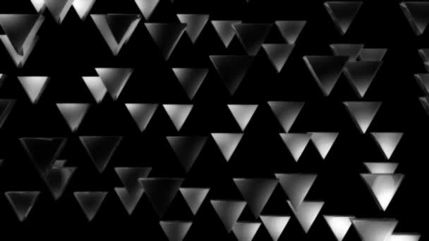 Moving white triangles