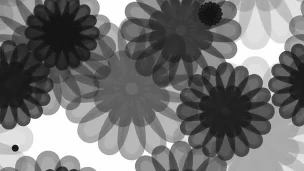 šedý květinový vzor