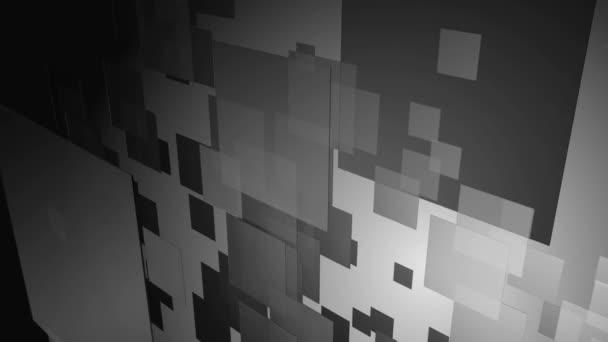 pohybující se černé a bílé dlaždice