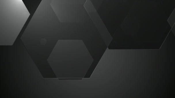 Černá a bílá šestihranný animace