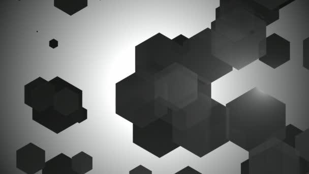 Schwarz-weiße sechseckige Animation
