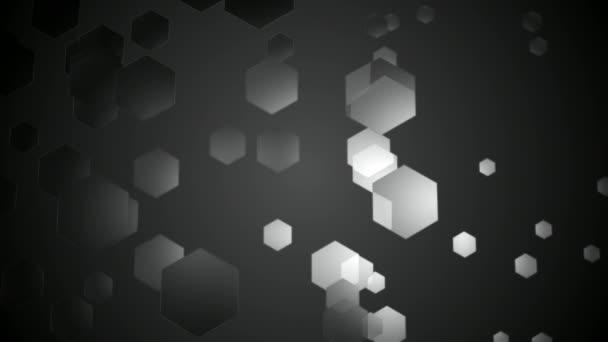 Schwarz und weiß-Sechskant-Animation