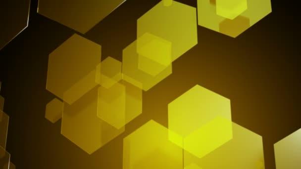 Gelbe hexagonale Bewegung