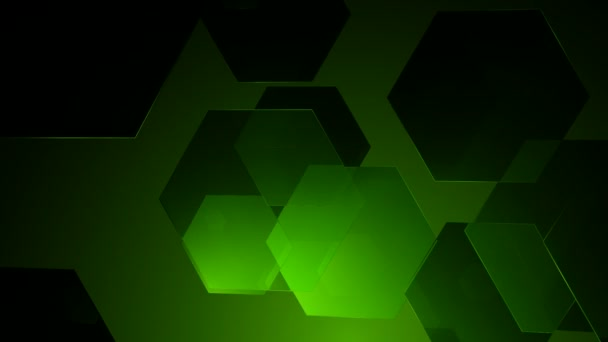 Grüne sechseckigen Bewegung