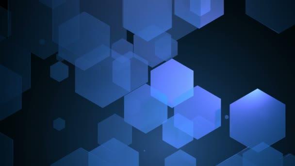Blaue, sechseckige Bewegung