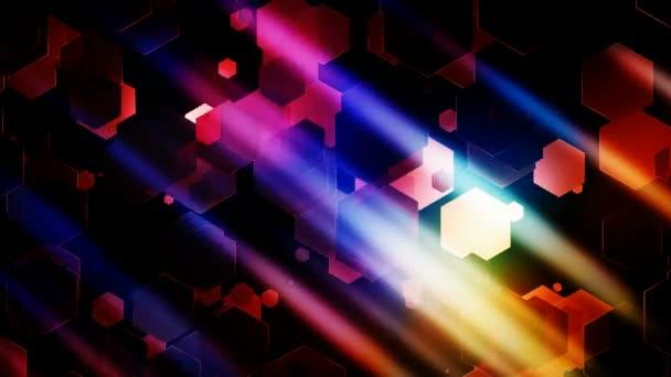 šestihranný barevná světla