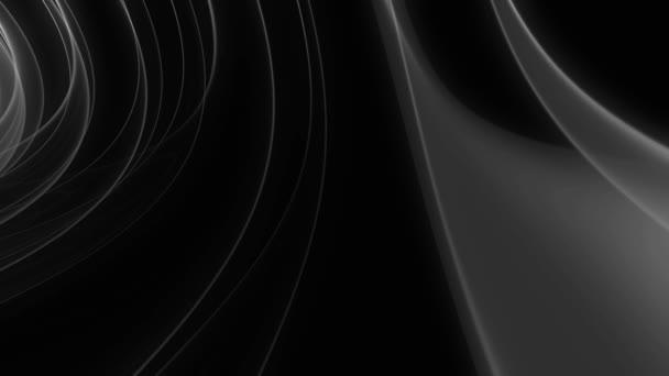 Černý lesklý kabel