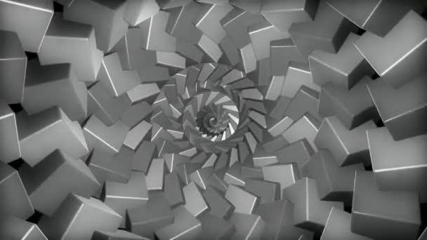 zkroucení šedé kostky