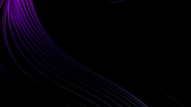 zářící fialové čáry